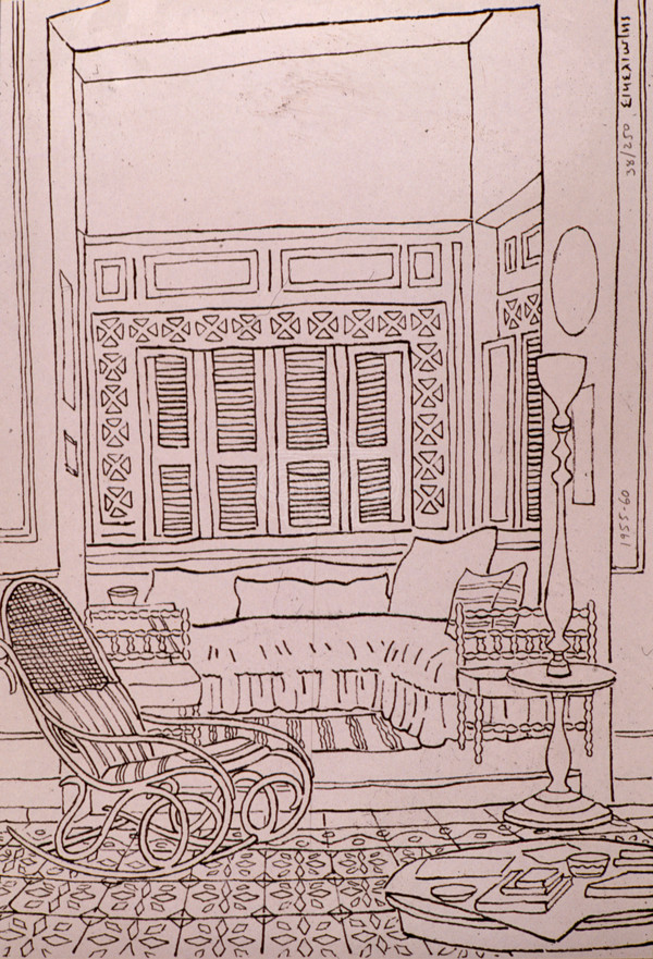Room with armchair